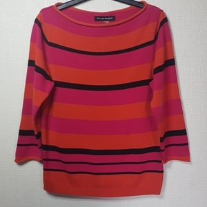 Nygard colour block stripped pull over SZ